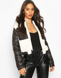 Teddy Faux Fur Mix Puffer Jacket