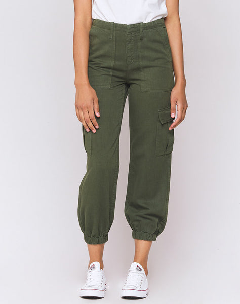 Teddy Olive Utility Cargo Pant