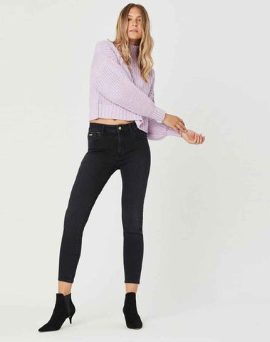 Tess Super Skinny Jeans In Smoke Golden Gold