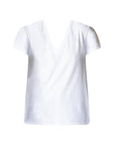 Textured Jersey V-neck T-shirt