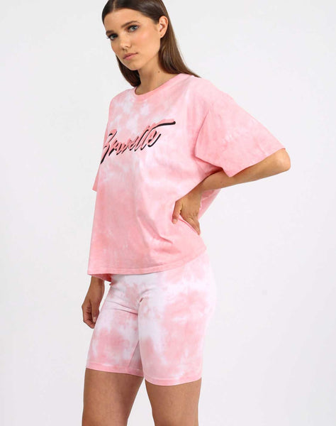 "The ""Brunette"" Pink Marble Tie-dye Vintage Boxy Tee 