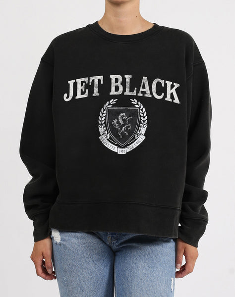 "The ""Jet Black"" Step Sister Crew Neck Sweatshirt 