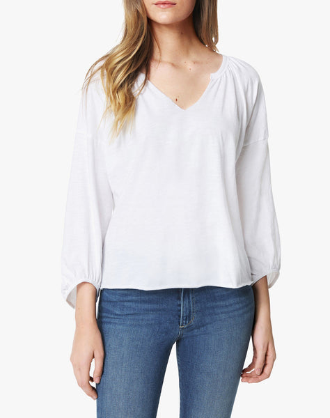 The Drop Shoulder Ballon Sleeve Top