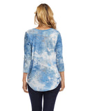 Tie-Dye Burnout Shirttail Top