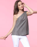 TIFFANY TIE SHOULDER TOP
