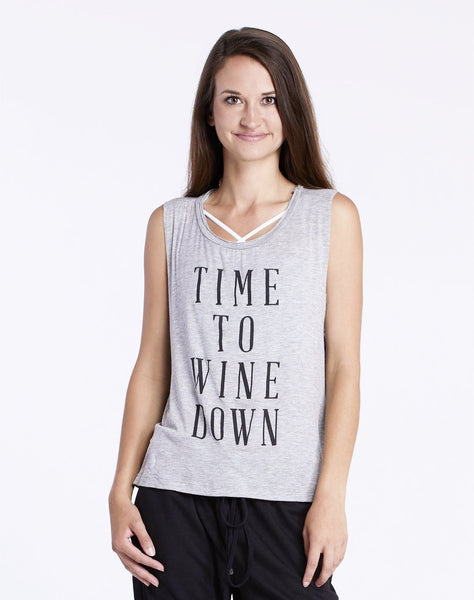 Time To Wine Down Muscle Tee.