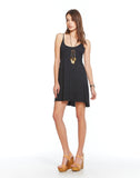 Triblend Strap Back Empire Mini Dress