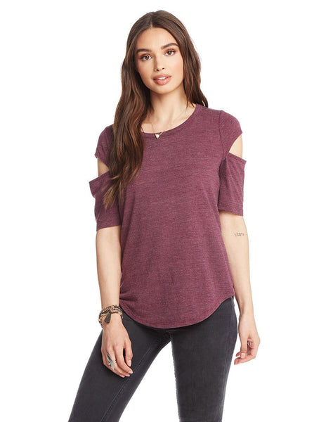 Triblend Vented Elbow Sleeve Shirttail Tee