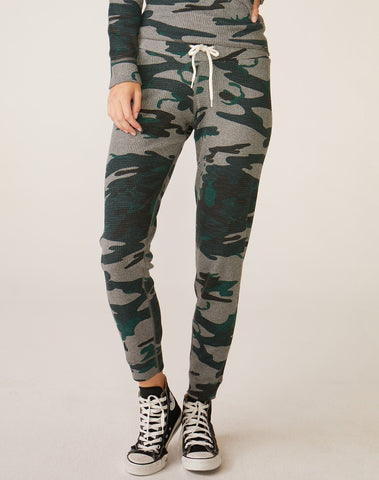 Vintage Camo Thermal Cuff Sweats