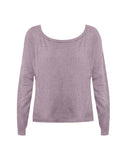 Vintage Waffle Long Sleeve Scoop Neck Thumbhole Tee