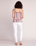 Walk The Line Striped Ruffle Tank