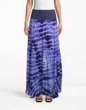 Watercolor Tie Dye Combo Maxi Skirt