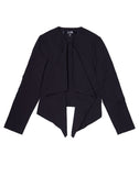 Stretch Crepe Draped Front Blazer