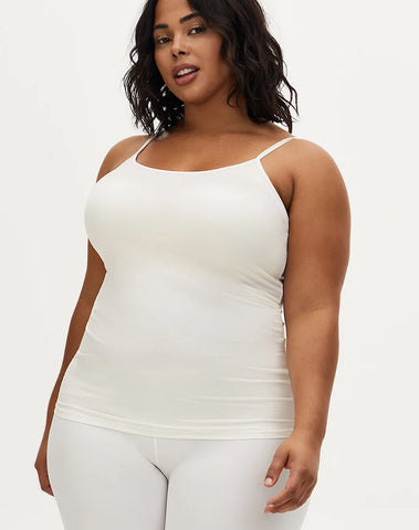 White Scoop Neck Second Skin Cami