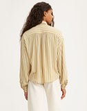 Margot Top Yellow/white Stripe