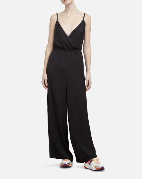 Wide Legged Jumpsuit in Lightweight Charmeuse