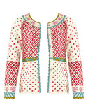 """Rose"" Cardigan In Organic Cotton/wool"