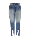 X MARKS THE SPOT HIGH RISE ANKLE SKINNY JEAN