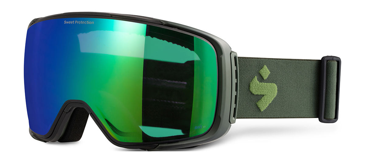 Sweet Protection Interstellar Matte Olive Drab / RIG Emerald Goggles 2020 thumbnail