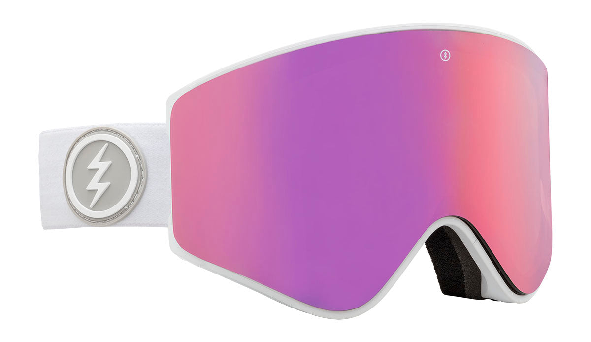 Electric EGX Matte White Brose / Pink Chrome Goggles thumbnail