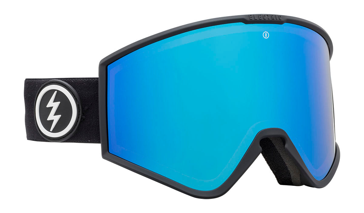 Electric kleveland matte black brose / blue chrome 2020 fra electric på blacksnow.dk