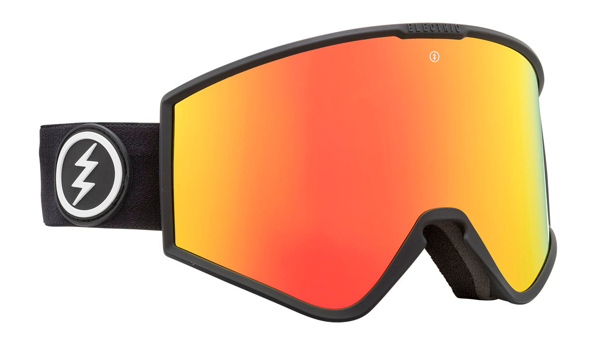 Electric Kleveland Matte Black Brose / Red Chrome Goggles thumbnail