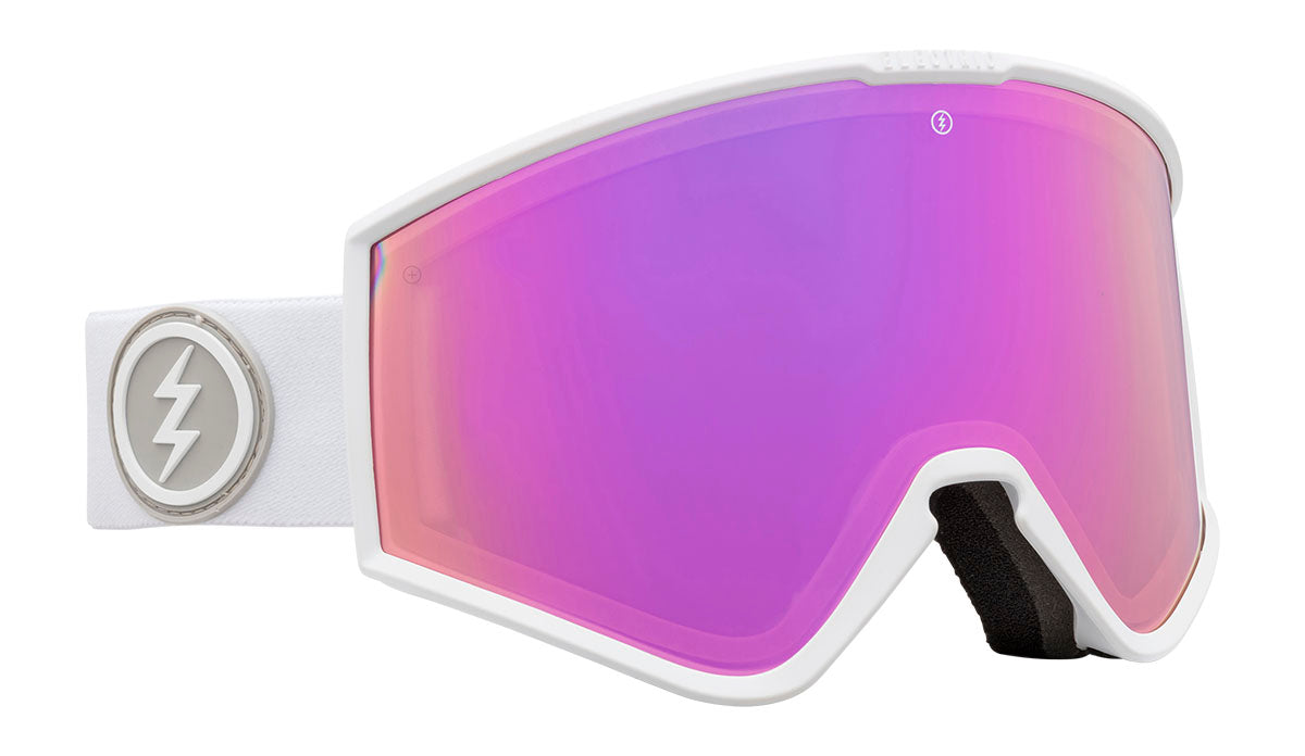 Electric Kleveland+ Gloss White Brose/ Pink Chrome Goggles thumbnail
