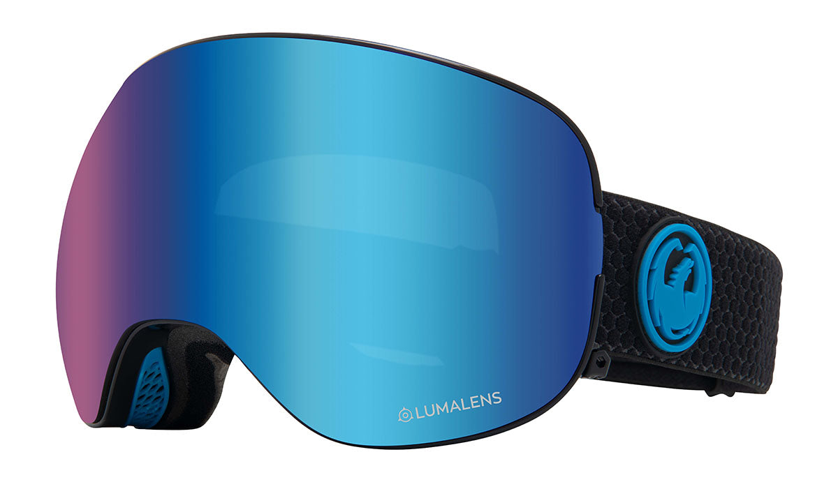 Dragon X2 Split Lumalens Blue Goggles thumbnail
