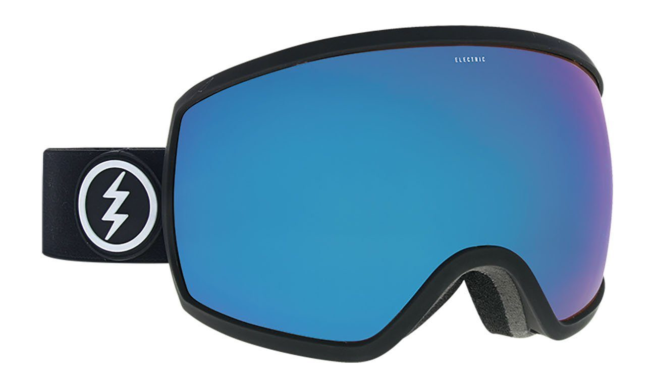 Electric EGG Matte Black / Brose Blue Chrome Goggles thumbnail