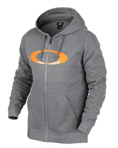 Oakley DWR Ellipse FZ Hoodie 2018 Athletic Heather Grey - Blacksnow.dk