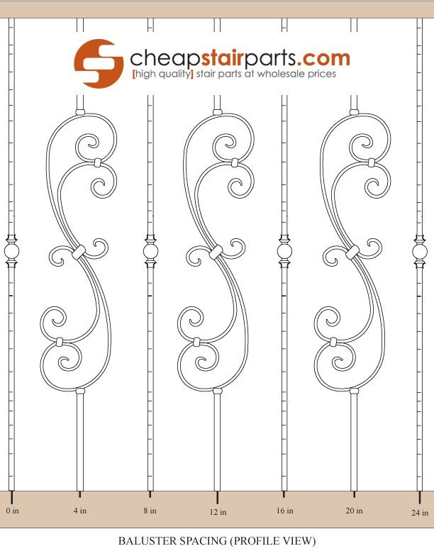 Baluster Measuring and Spacing Diagram