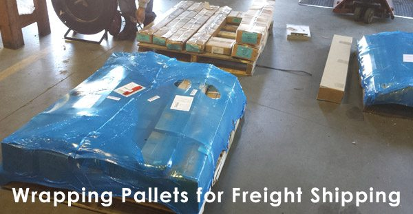 Wrapping Pallets for Freight Shipping