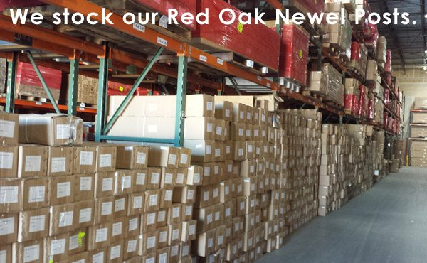 We stock our Red Oak Newel Posts