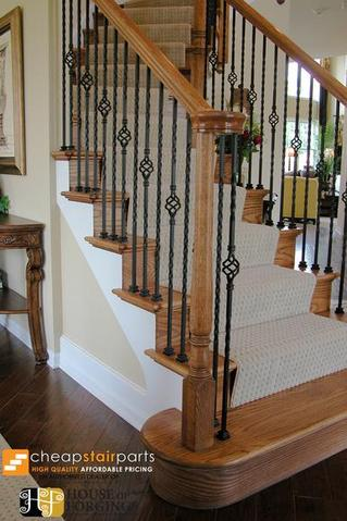 Cheap Stair Parts Shop Iron Balusters Handrail Treads