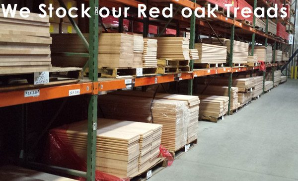 We stock our red oak treads
