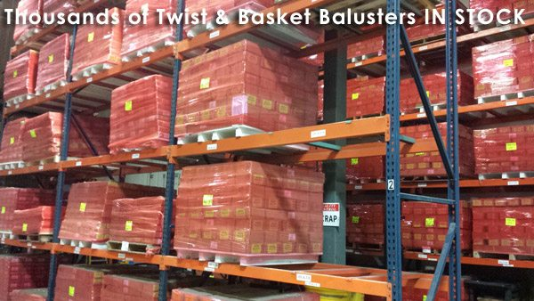 Thousands of Twist & Basket Balusters IN STOCK