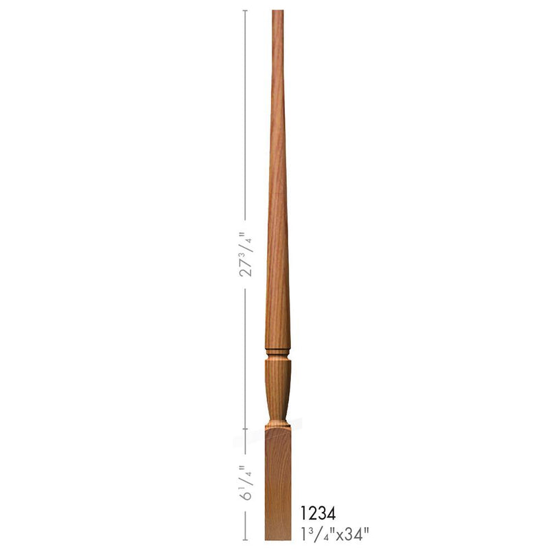 1234 Bunker Hill Style Pin Top Baluster - Cheap Stair Parts