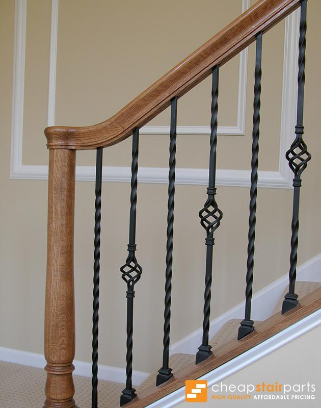 16.1.21 Long Single Twist Iron Baluster Iron Baluster House of Forgings
