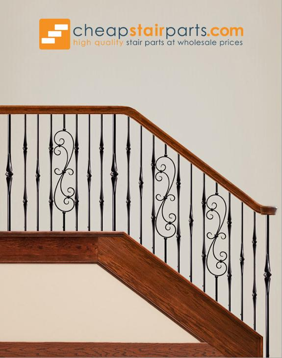 16.1.25-R Round Spiral Scroll Iron Baluster - Cheap Stair Parts
