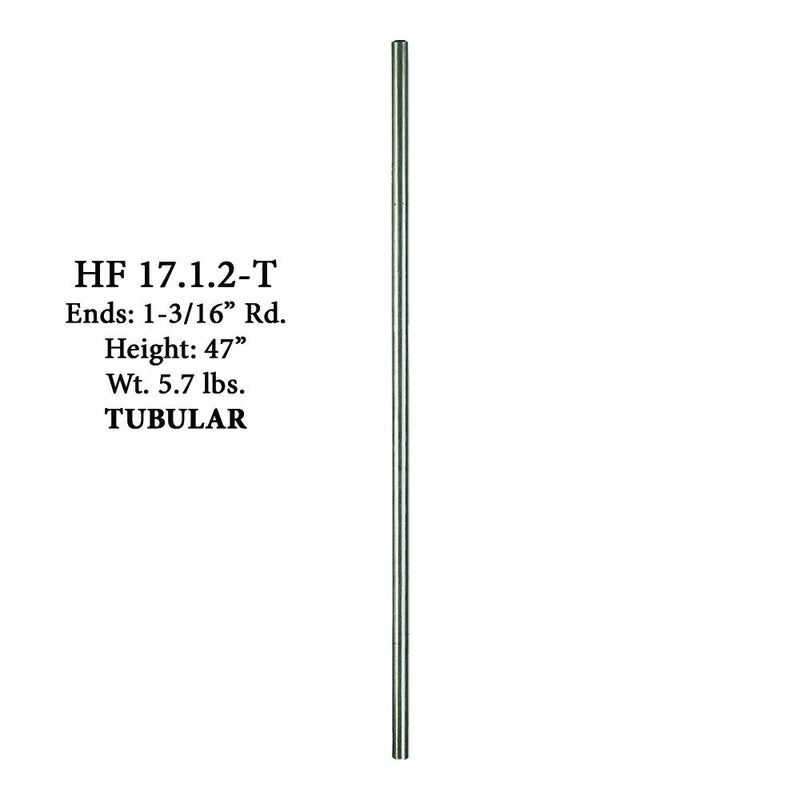 17.1.2-T Plain Round Stainless Steel Hollow Newel Post Stainless Steel Newel House of Forgings