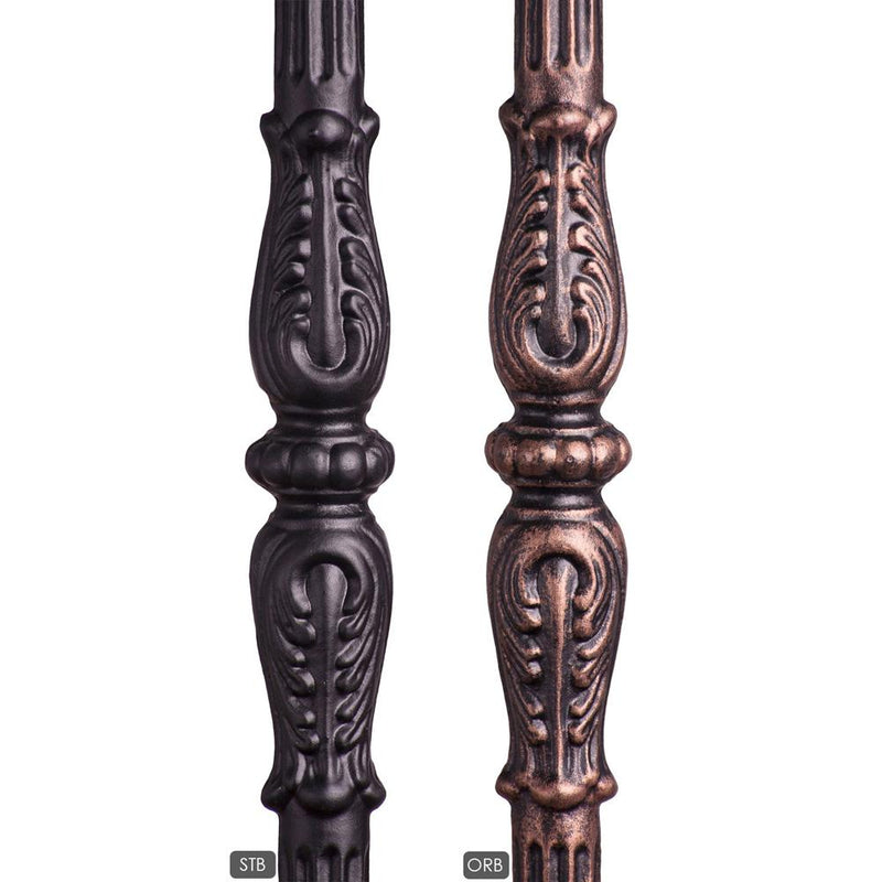 18.1.1-T Decorative Knuckle Monte Carlo Hollow Iron Newel Iron Newel House of Forgings