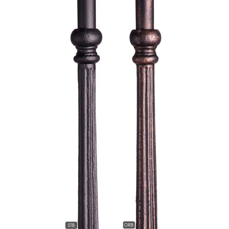 18.2.2-T Plain Fluted Bar Iron Baluster - Cheap Stair Parts