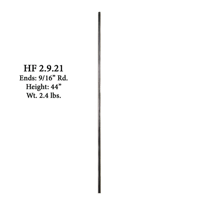 2.9.21 Plain Round Forged Bar Iron Baluster Iron Baluster House of Forgings