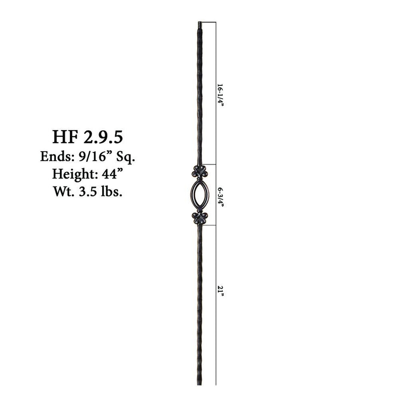 2.9.5 Single Oval Iron Baluster Iron Baluster House of Forgings