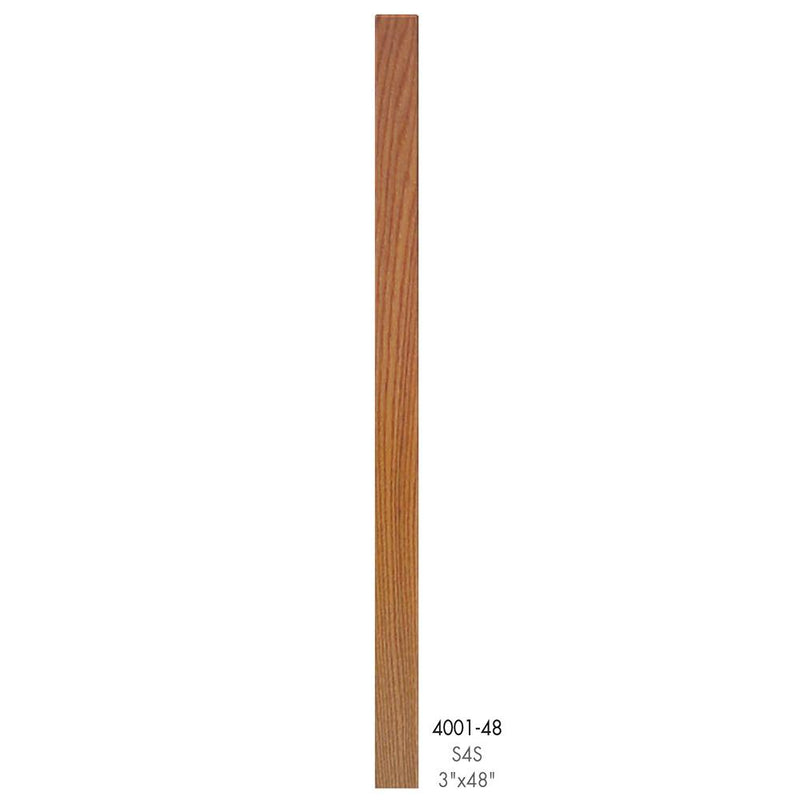 4001-48 Contemporary Style S4S Newel Post - Cheap Stair Parts