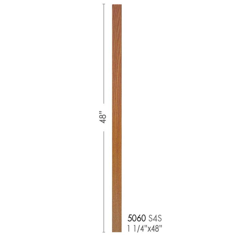 5060-48 Contemporary Style S4S Baluster Wood Baluster House of Forgings