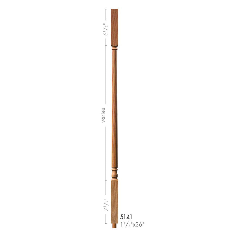 5141-36 Colonial Style Square Top Baluster
