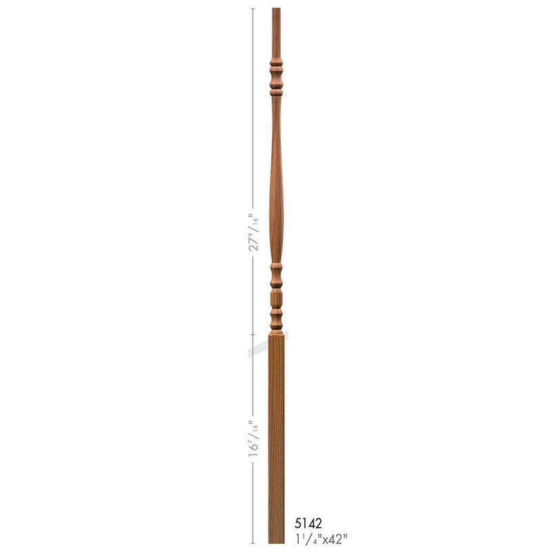 5142 Hampton Style Pin Top Baluster Wood Baluster House of Forgings