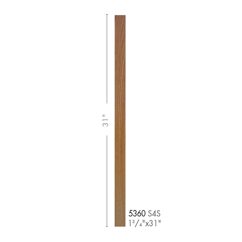 5360-31 Contemporary Style S4S Baluster Wood Baluster House of Forgings