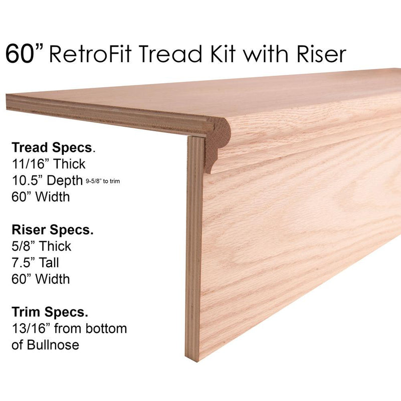 60″ RetroFit Tread Kit with Riser